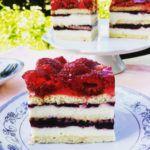 Ciasto grysikowe zmalinami