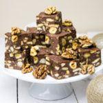 Blok czekoladowy zbakaliami